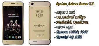Advan Barca i5A, Android Quad Core 4G LTE 5 Inci RAM 2 GB 1 Jutaan