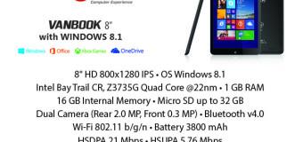Advan Vanbook W90, Tablet 9 Inci Quad Core RAM 1GB Dual Kamera