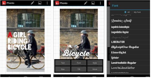 Aplikasi Android Menulis Kata kata di Foto