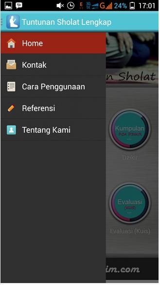 Aplikasi Android Panduan Sholat