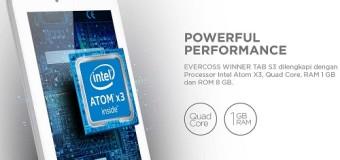 Evercoss Winner Tab S3, Tablet Intel Atom X3 Khusus Untuk Pelajar Harga 800 Ribuan