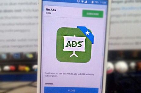 Menghilangkan Iklan di BBM