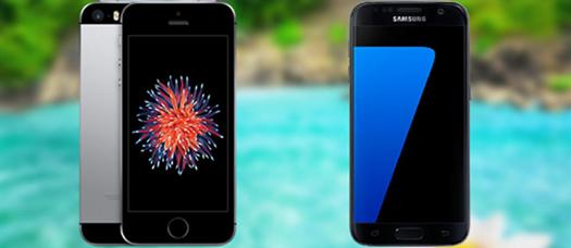Samsung Galaxy S7 dan iPhone SE