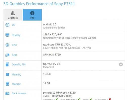 Sony Xperia F3311